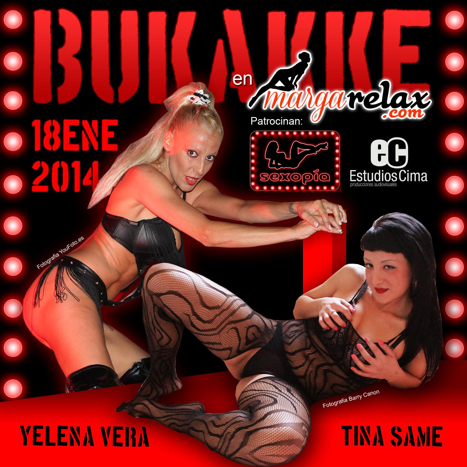 Sexopía patrocina el Bukakke de Yelena Vera y Tina Same en Margarelax